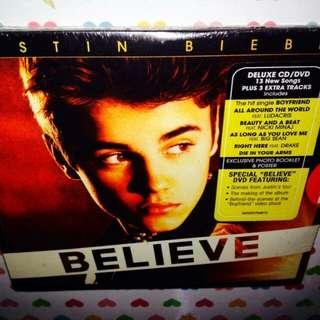 Justin Bieber-Believe (DeLuxe CD+DVD)(Sealed)