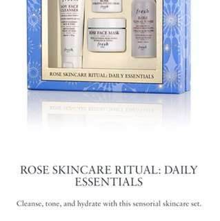Fresh Rose Skincare set
