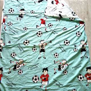 Aussino Kids 100% Cotton 'Football Craze' Single Duvet Cover