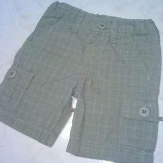 Grey Checkered 6-pocket Shorts
