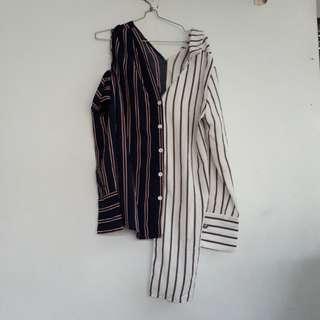 Shirt Stripe Navy White