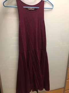 100% New Hollister Burgundy Dress