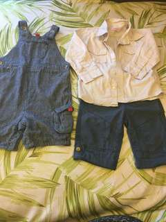 John Lewis and lovely lace dungaree, shorts and shirt