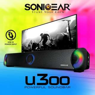SonicGear U300 powerful Soundbar with Brilliant light effects speaker