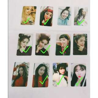 WTB Irene Photocards