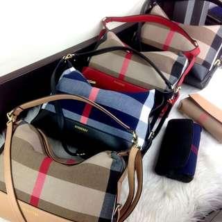 Set 2 in 1 BURBERRY Oxford Vintage Shoulder Bag SS18 #68022*