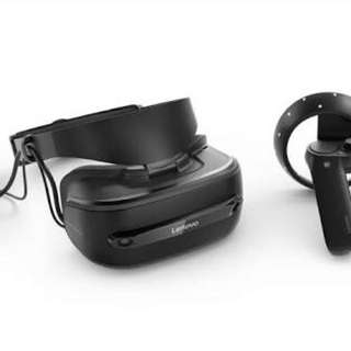 lenovo explorer mixed reality headset with motion controllers