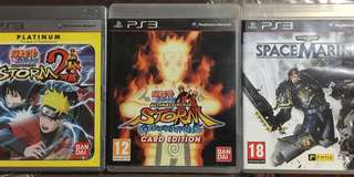 PS3 Games - Naruro/Naruto2/Spacemarine