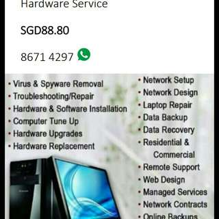 On Site PC service package, USED RAM AND INTEL PROCESSOR