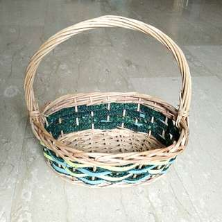 Almost New Small Basket with Handle