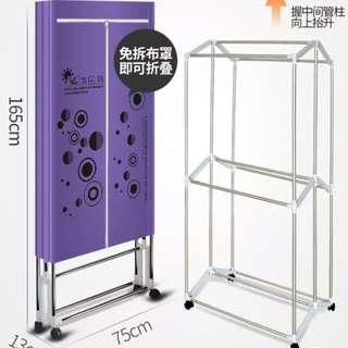 new clothes dryer foldable  全新可摺疊收起乾衣機有遙控