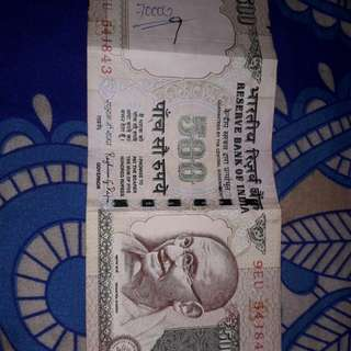 Uang india 500 rupees since 2014