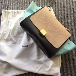 Celine Trapeze Shoulder Leather Bag