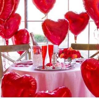 40cm RED & PURPLE Heart shape foil balloon