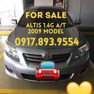 Toyota Altis 1.6G A/T 2009 Model