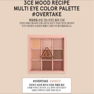3CE Mood Recipe Palette in Overtake