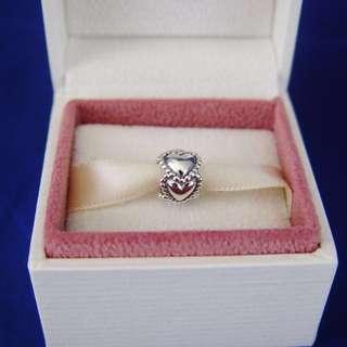BNIB Authentic Pandora Everlasting Love Heart Sterling Silver Charm