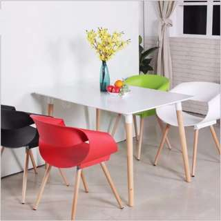 TET002 Mar Hot Sale! Eames Table Rectangle White TET