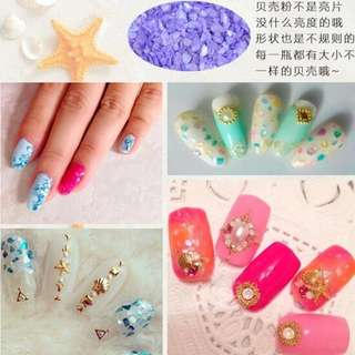 12 Colors Set Crushed Shell Chips Powder Dust Glitter For Nails Polish Gel UV Acrylic 3D Tips Nail Art Decoration Tools Manicure