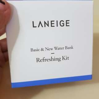 Laneige Basic and New Water Bank Refreshing Kit