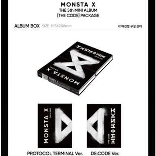 Monsta X 5th Mini album: The Code ; Protocol Terminal