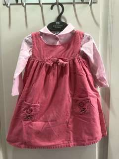 2pc set dress size 1-2 yr old