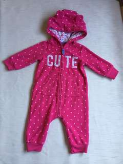 BNEW! frogsuit overall for baby girl 6 mos