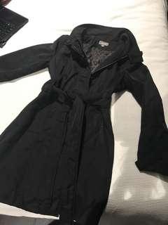 Sussan Black Winter zip/button & tie up jacket