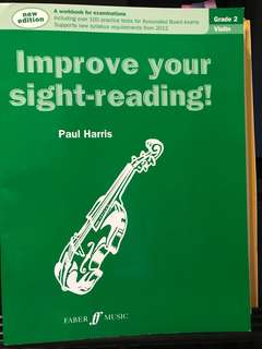 Violin Grade 2 sight reading book by Paul Harris