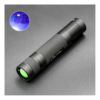 Manta Ray S9 Portable Mini EDC 365nm UV LED Flashlight