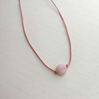 Natural pink opal necklace/pendant (pink string)