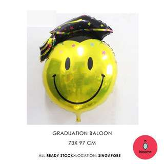 (XL) 97cm  graduation smiling FOIL BALLOON