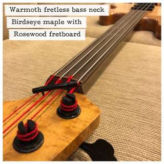 Warmoth Fretless Bass Neck (Birdseye Maple / Rosewood)