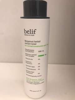 Belief, Bergamot Herbal Extract Toner, 200ml