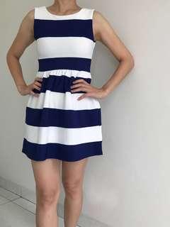 N.y.L.a Blue & White Stripes