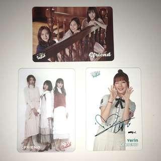 Gfriend Yes!Card 第23/20/18期 白卡