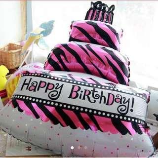 (XL) 95 cm birthdaycake foil balloon