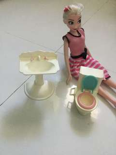Mattel sink and toilet