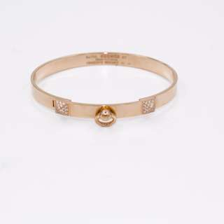 (NEW)Hermes H115406B ROSE GOLD DIAMONDS COLLIER DE CHIEN METAL ST (15-16CM) BRACELET RGHW, ROSE GOLD 全新 手鐲 手鈪 玫瑰金色