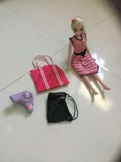 Barbie bag & blower