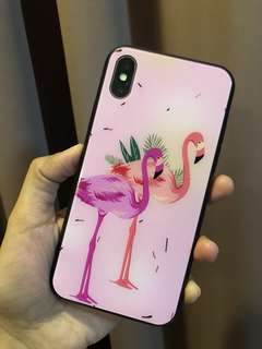 FLAMINGO GLOSSY RESIN CASE FOR IPHONE X