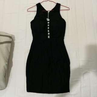 BLACK SEXY DRESS (WITH BRA PADDING)