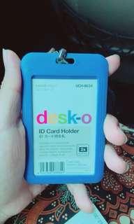 Card holder biru muda