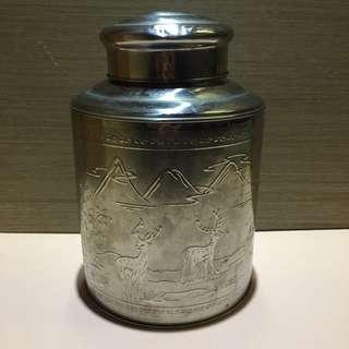 早期茶葉罐  收納罐 鐵製茶葉罐 茶葉罐   茶葉收納罐