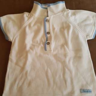 White polo shirt for your little one