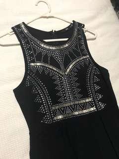Sportsgirl beaded black maxi dress