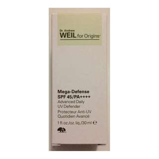 Dr Andrew Weil for Origins Daily Defense Sunblock SPF45 PA++++ 30ml