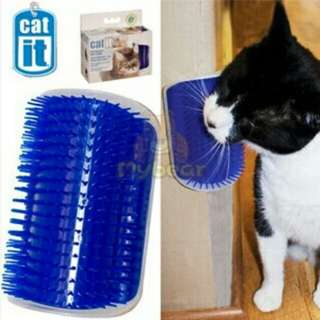 Pet Products Cat Massager Wipes Cute Fiddle Artifact Blue Furniture and Scratchers cats furniture play Toy for Cats Brush Comb