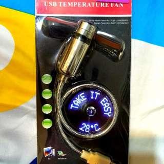 USB temperature fan !4 designs led