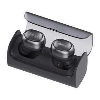 QCY True Wireless Earbuds with charging case